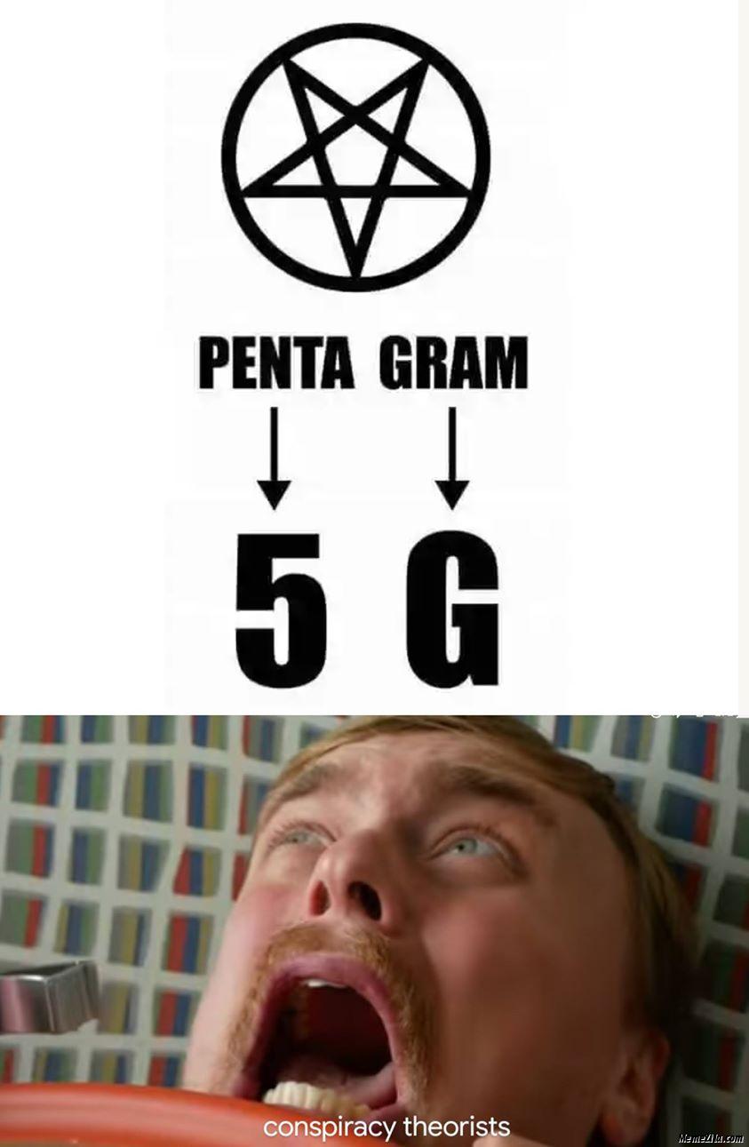 ¿Se está creando un nuevo orden mundial...? - Página 12 Penta-Gram-5G-Conspiracy-theorists-meme-4796