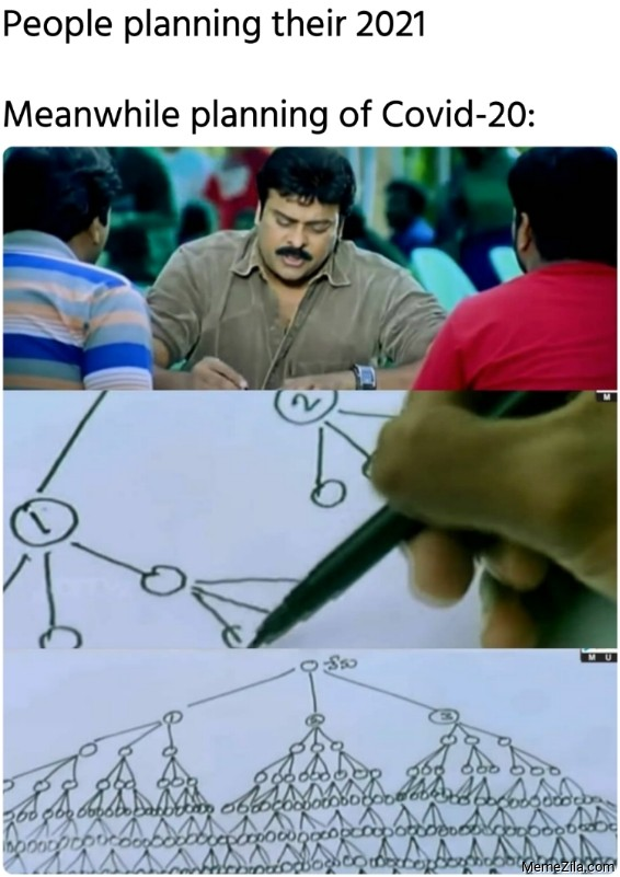 People planning their 2021 Meanwhile planning of Covid-20 meme