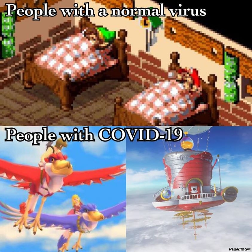People with normal virus vs people with covid 19 meme