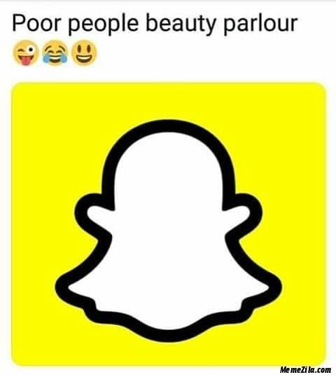 Poor people beauty parlour meme