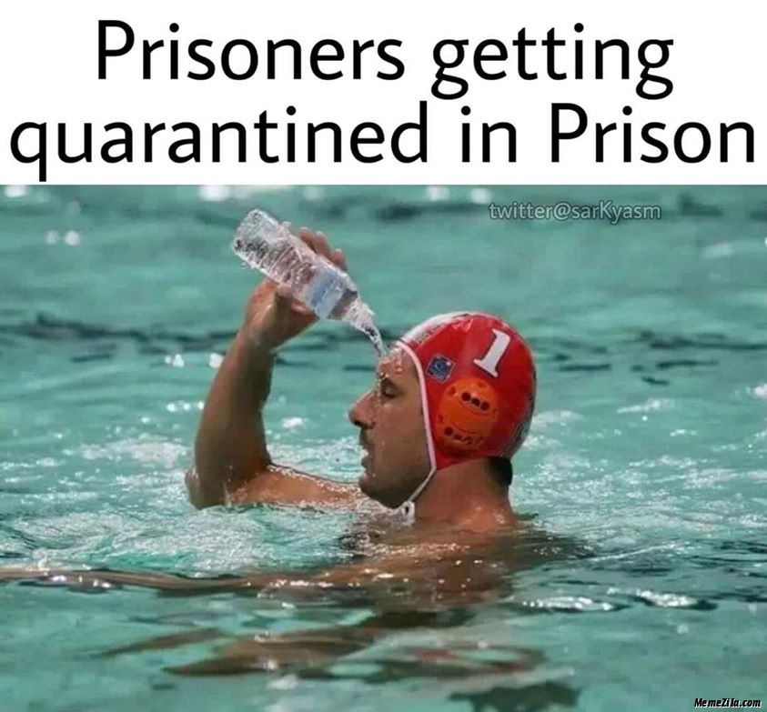 Prisoners getting quarantined in prison