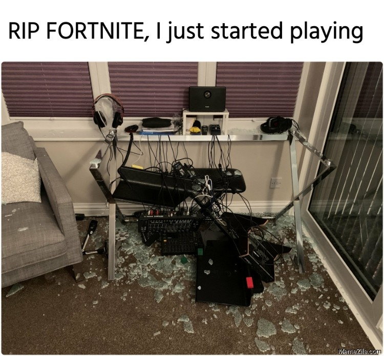 RIP FORTNITE I just started playing meme