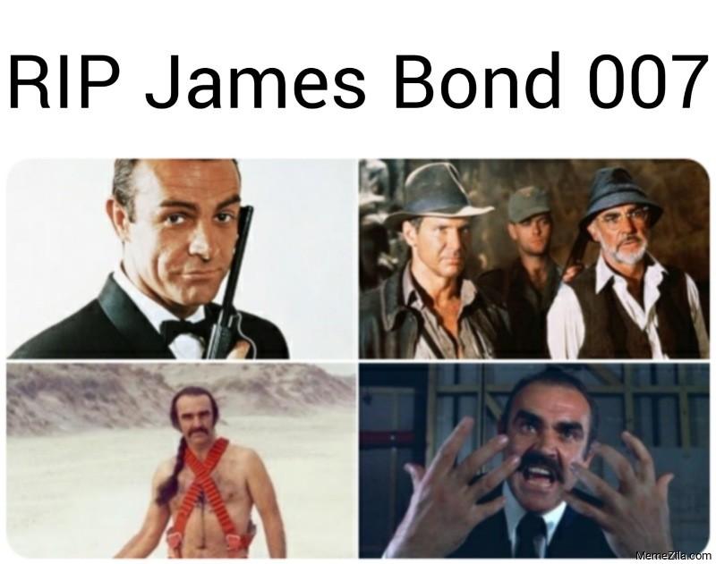RIP James Bond meme