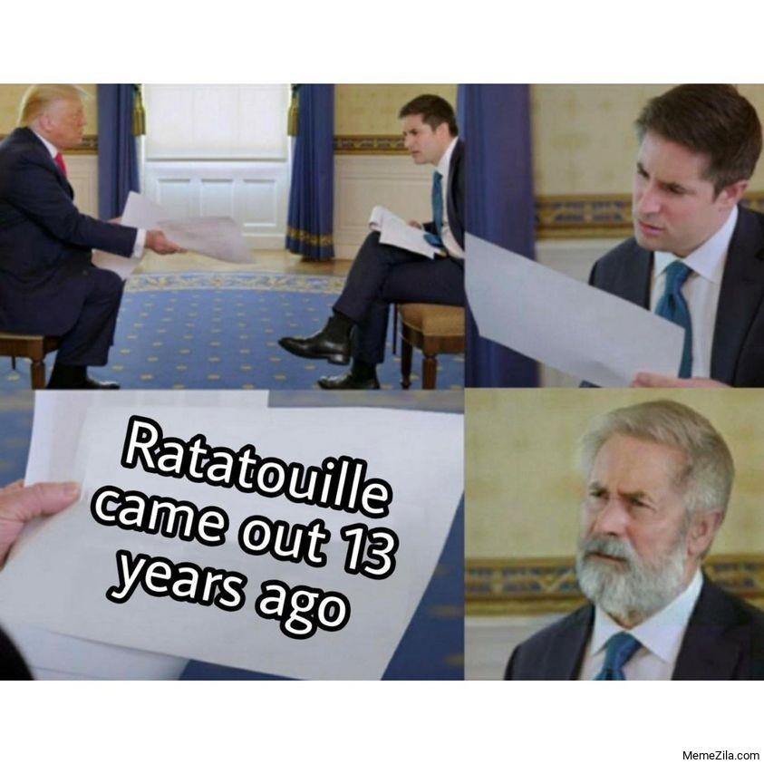 Ratatouille came out 13 years ago meme