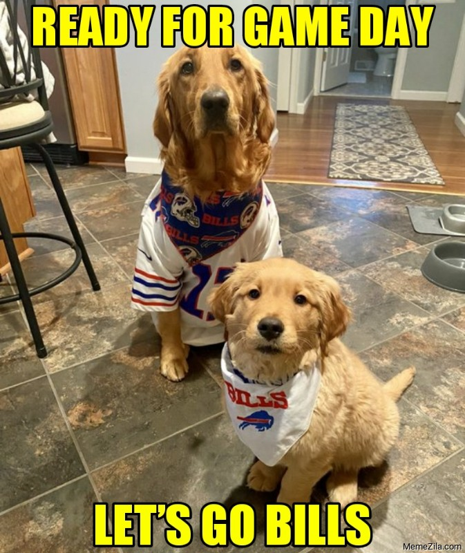 Ready for the game day Lets go bills meme