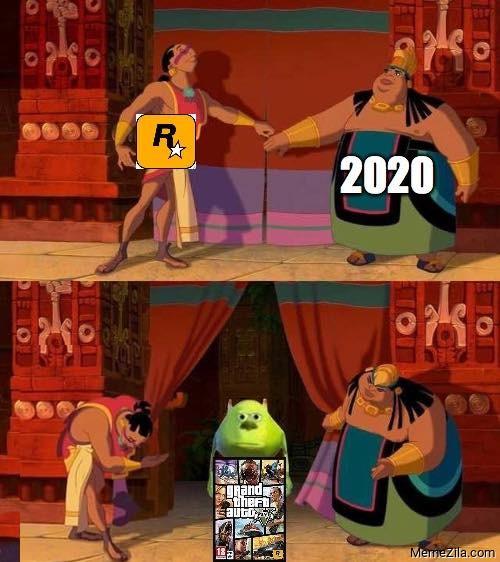 Rockstar games 2020 GTA 5 meme