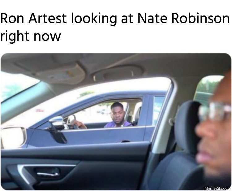 Ron Artest looking at Nate Robinson right now meme