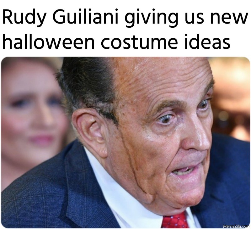 Rudy Guiliani giving us new halloween costume ideas meme