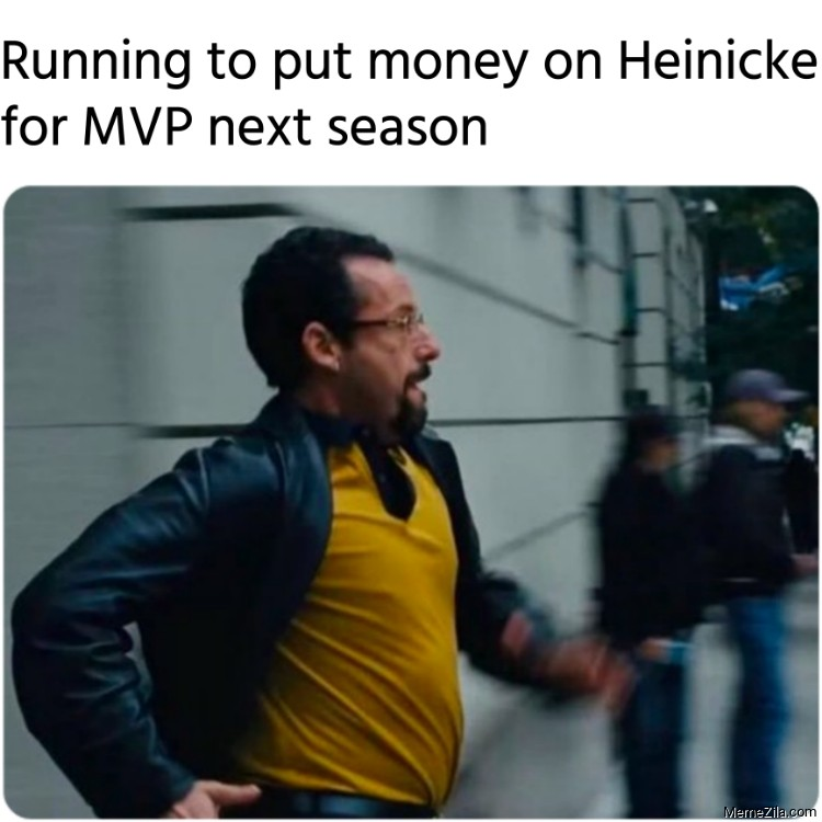 Running to put money on Heinicke for MVP next season meme
