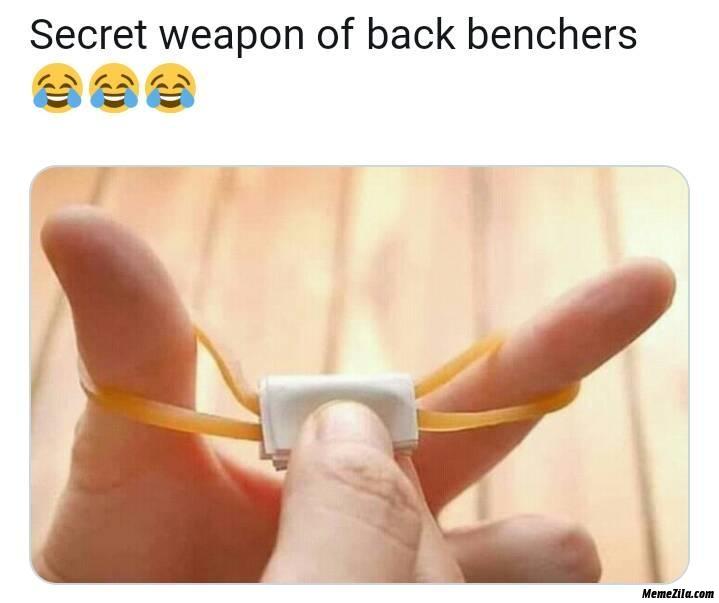 Secret weapon of back benchers