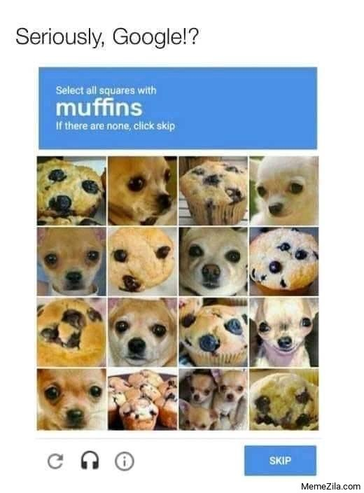 Select all squares with muffins meme