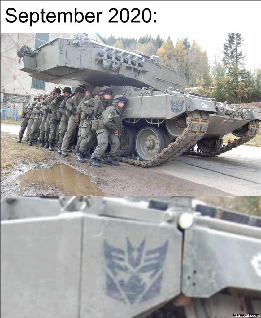 September 2020 tank meme