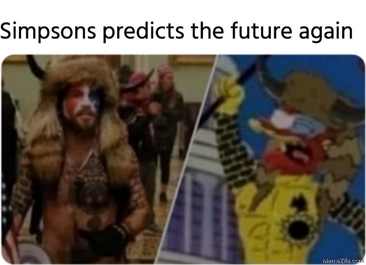 Simpsons predicts the future again meme