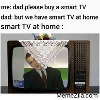 Smart TV at home meme