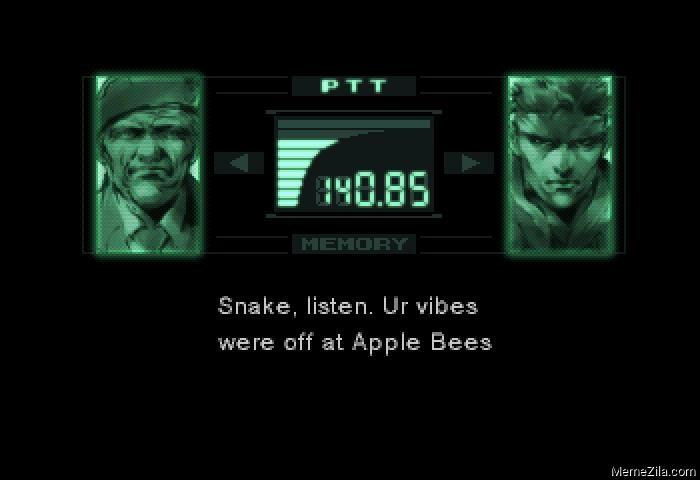 Snake listen Ur vibes were off at Apple bees meme