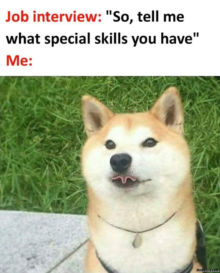 So tell me what special skills you have meme