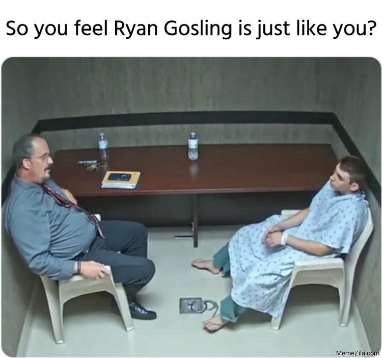 So you feel Ryan Gosling is just like you meme