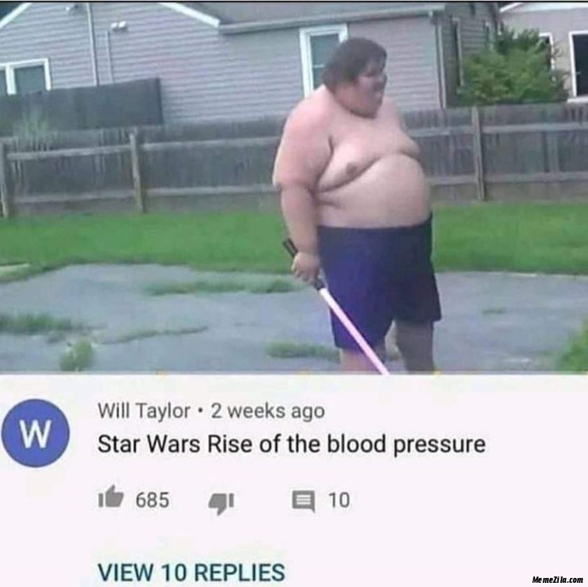 Star Wars rise of the blood pressure meme