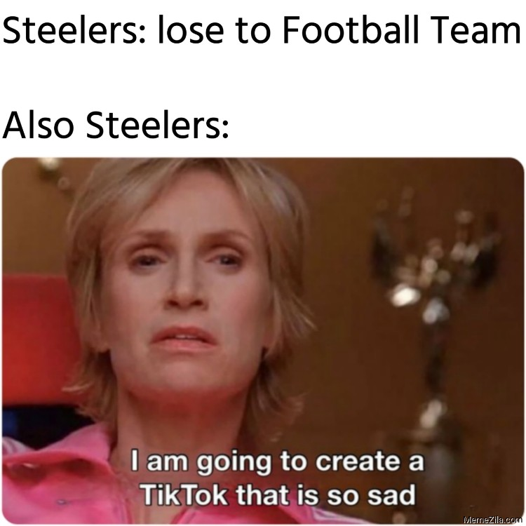 Steelers lose to Football Team Also Steelers meme