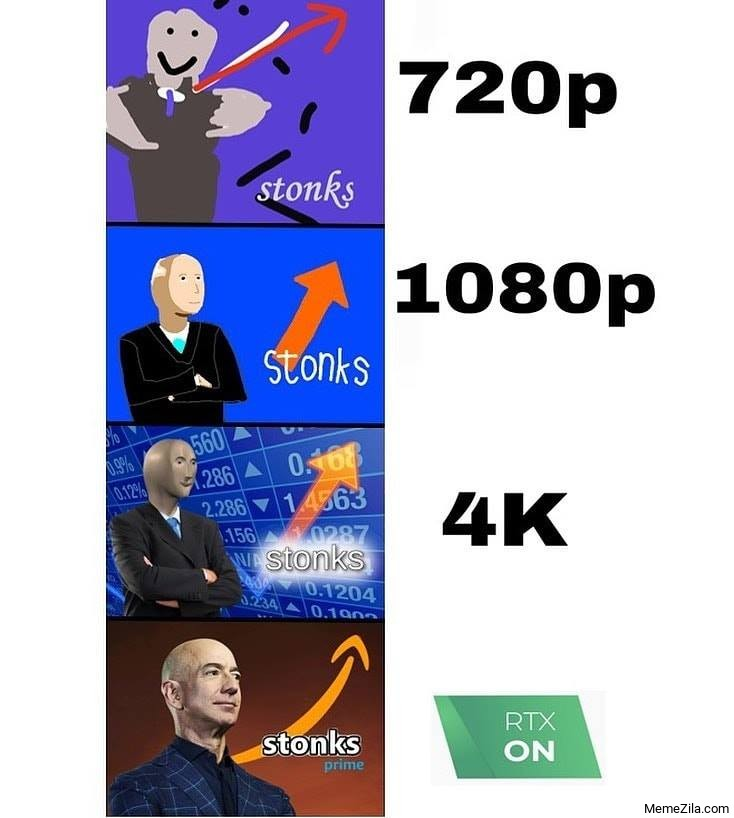 Stonks when RTX on meme