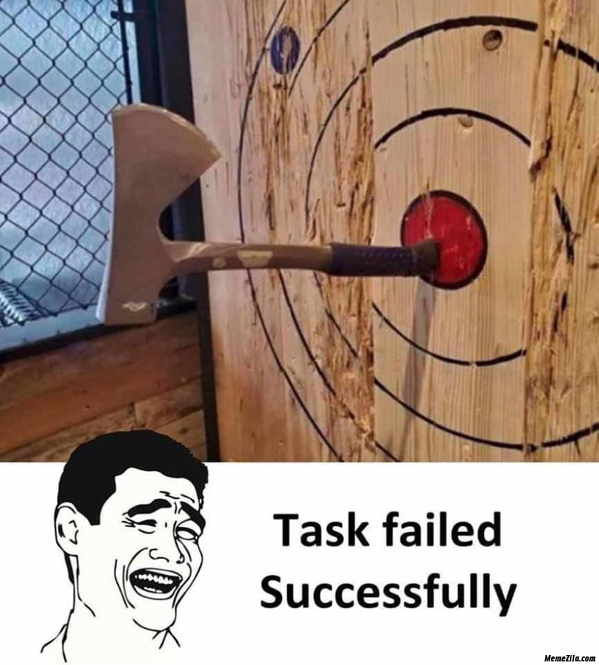 Task failed successfully meme