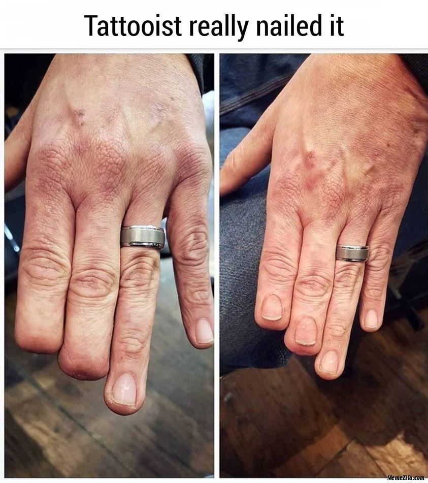 Tattooist really nailed it meme
