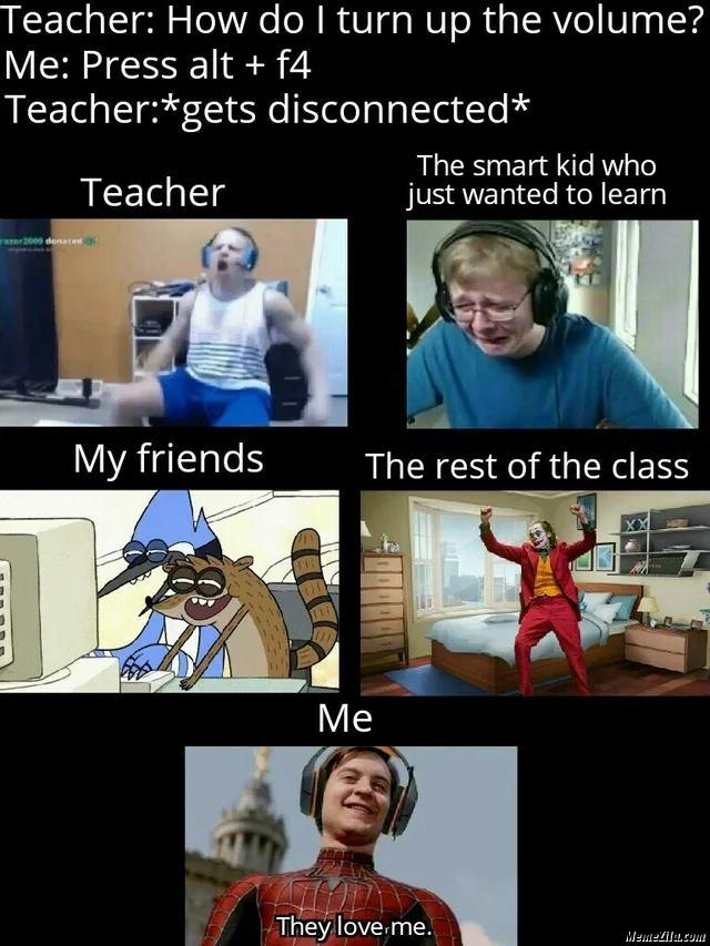 When Teacher Ask Me A Question In Online Class Meme Memezila Com