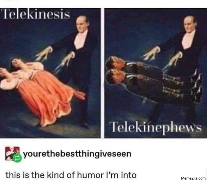 Telekinesis vs Telekinephews This is the kind of humour Im into meme