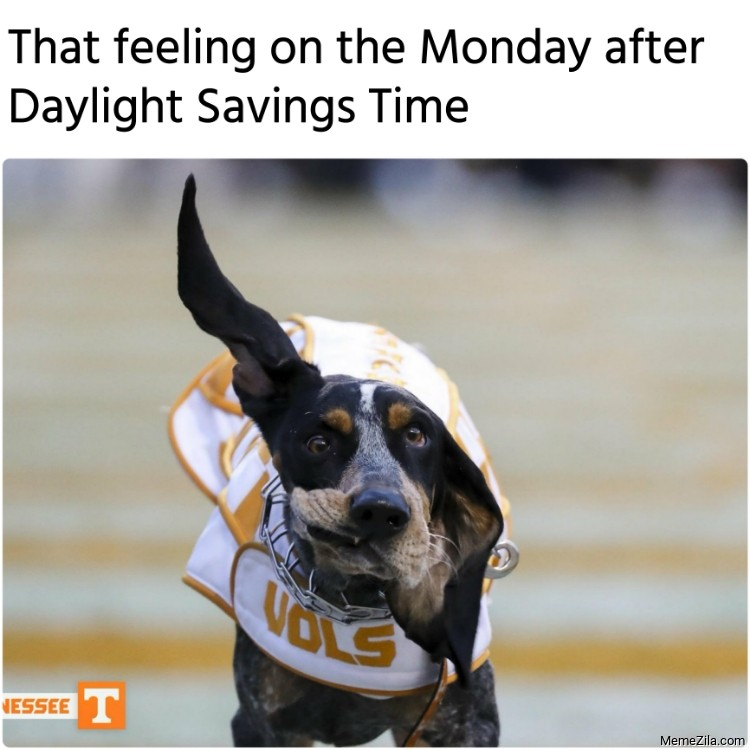 That feeling on the Monday after Daylight Savings Time meme