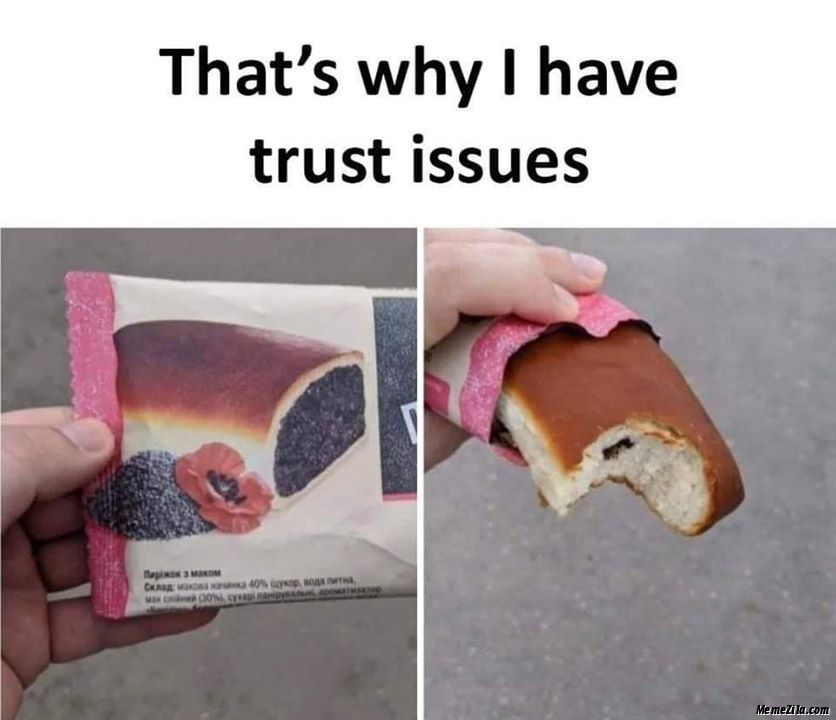 Thats why I have trust issues meme
