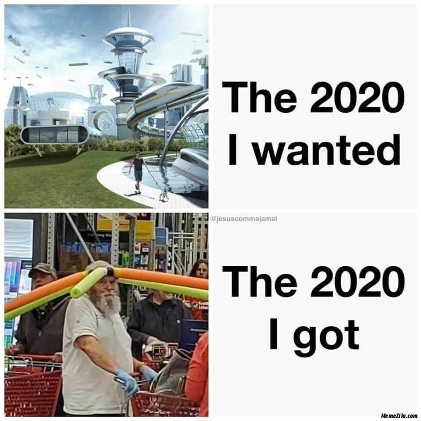 The 2020 I wanted The 2020 I got meme