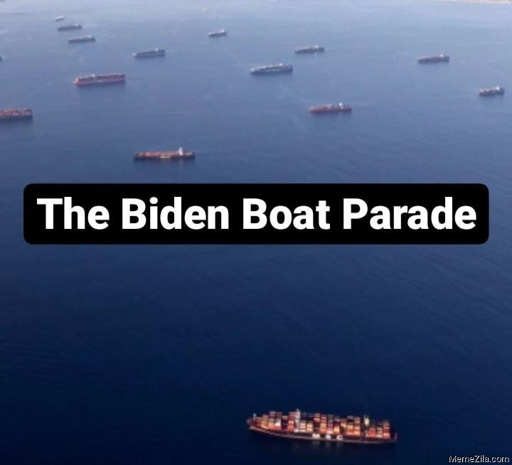 The Biden boat parade meme