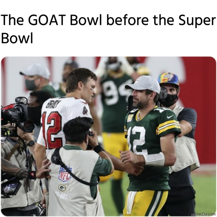 The Goat Bowl before the Super Bowl meme
