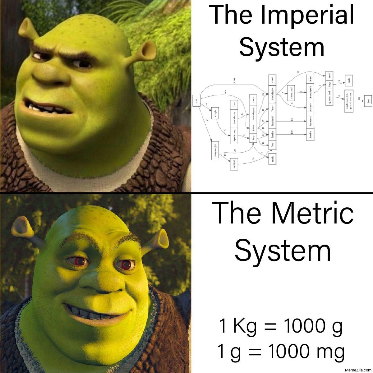 The Imperial System vs The Metric System meme