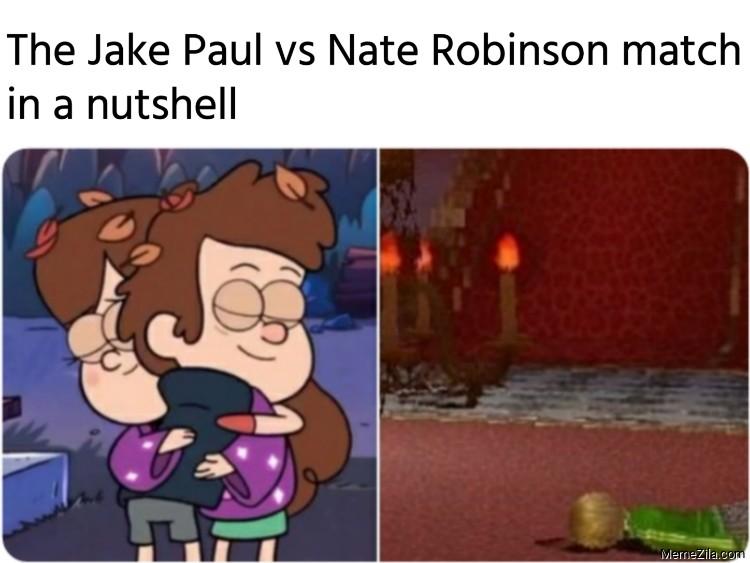 The Jake Paul vs Nate Robinson match in a nutshell meme