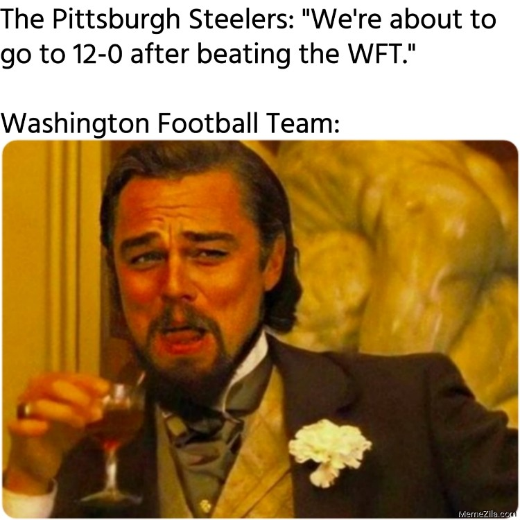 The Pittsburgh Steelers We are about to go to 12-0 after beating the WFT meme