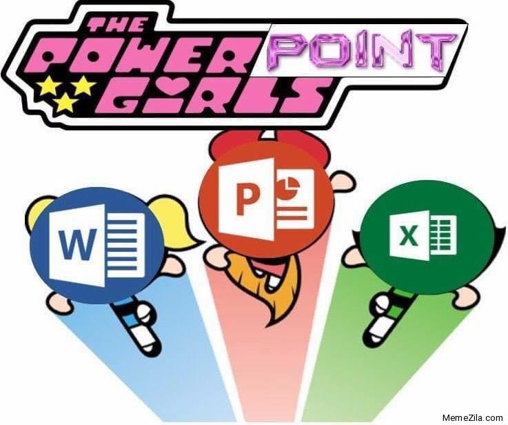 The PowerPoint girls meme