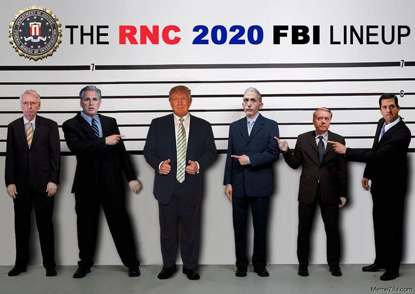 The RNC 2020 FBI lineup meme
