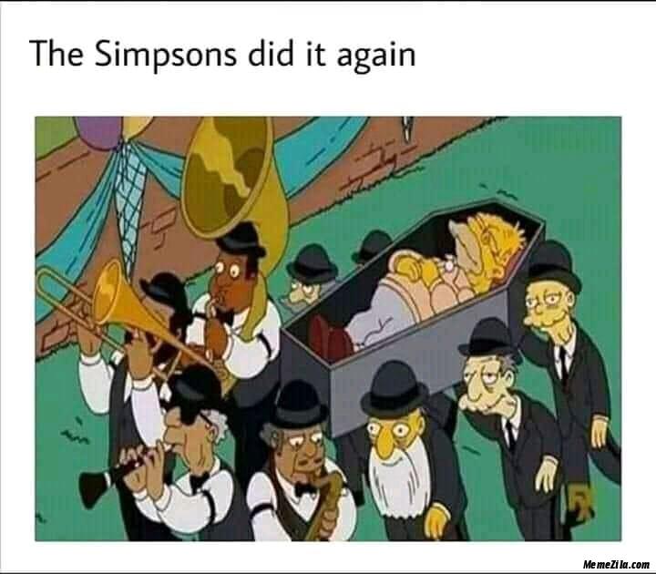 The Simpsons did it again meme