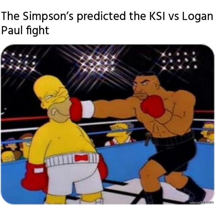 The Simpsons predicted the KSI vs Logan Paul fight meme