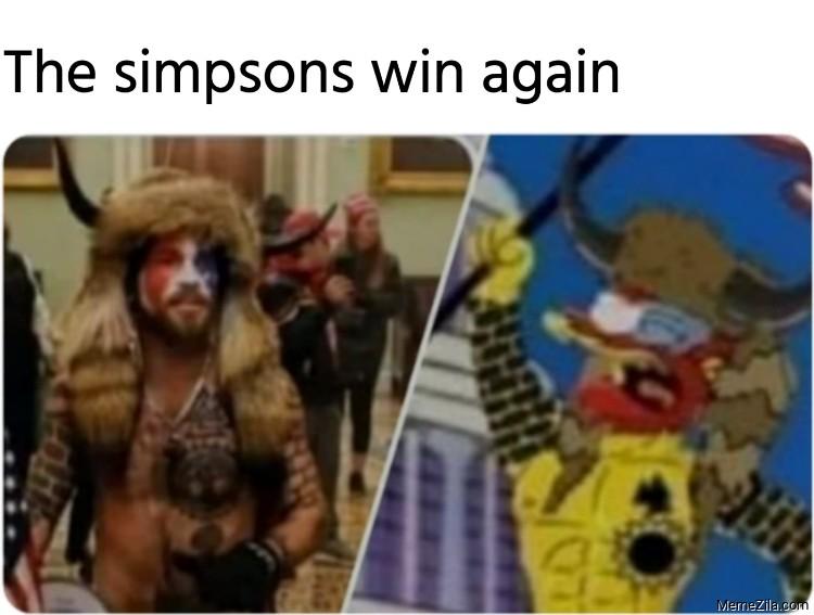 The Simpsons win again meme
