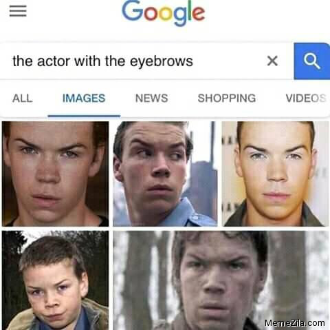 The actor with the eyebrows meme