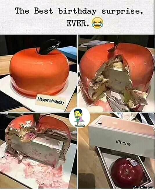 The best birthday surprise ever meme
