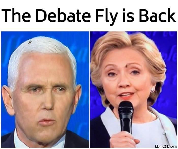 The debate fly is back meme
