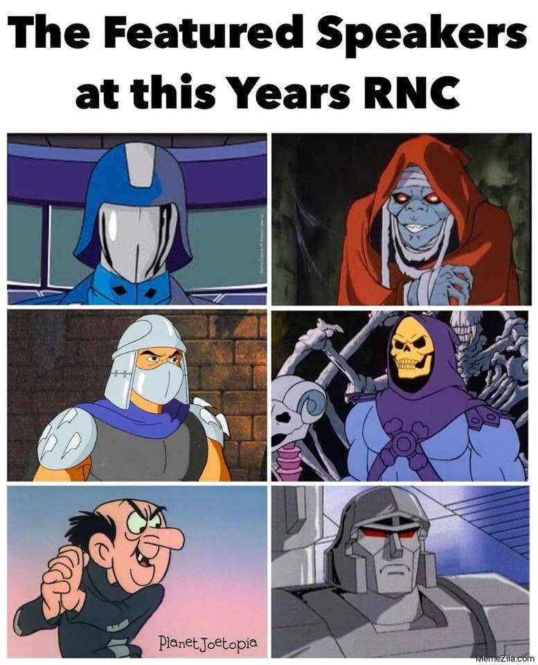 The featured speakers at this years RNC meme