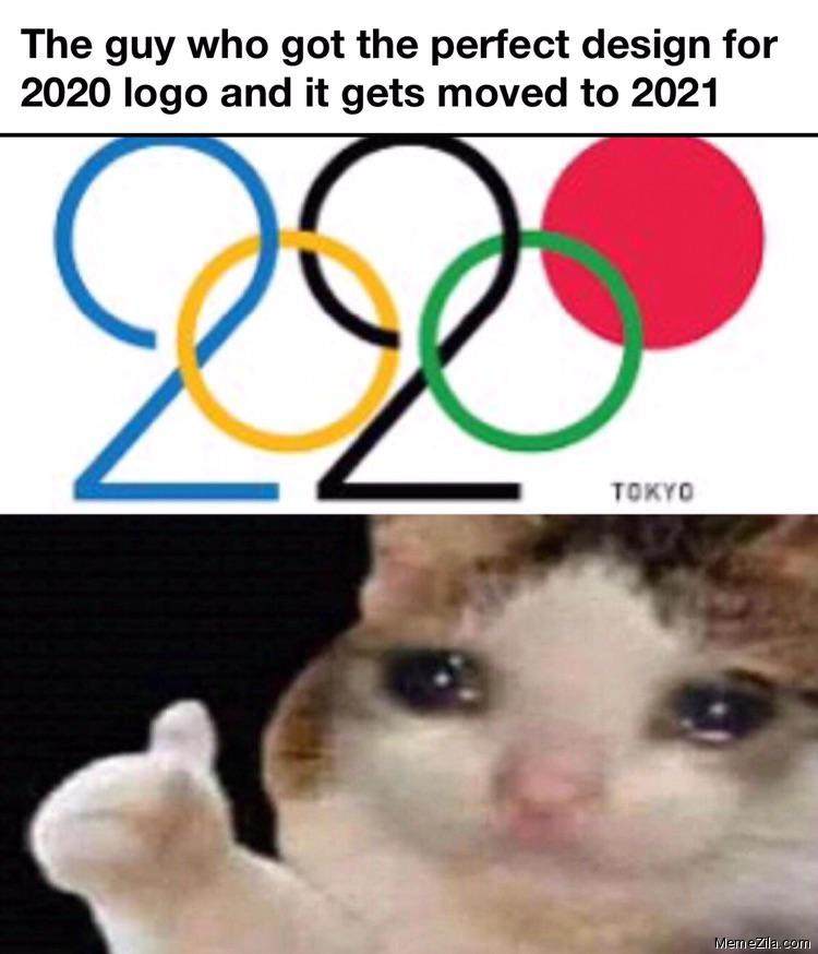 The guy who got perfect design for 2020 logo and it gets moved to meme