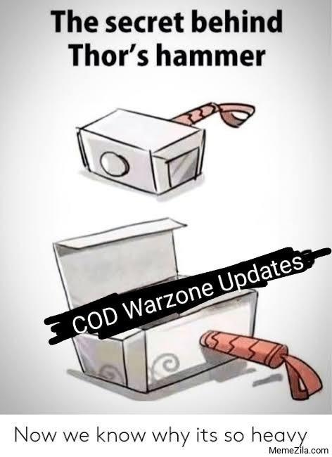 The secret behind Thor's hammer COD Warsone Updates meme