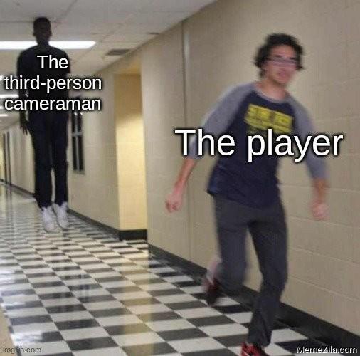 The third person cameraman vs  The player meme