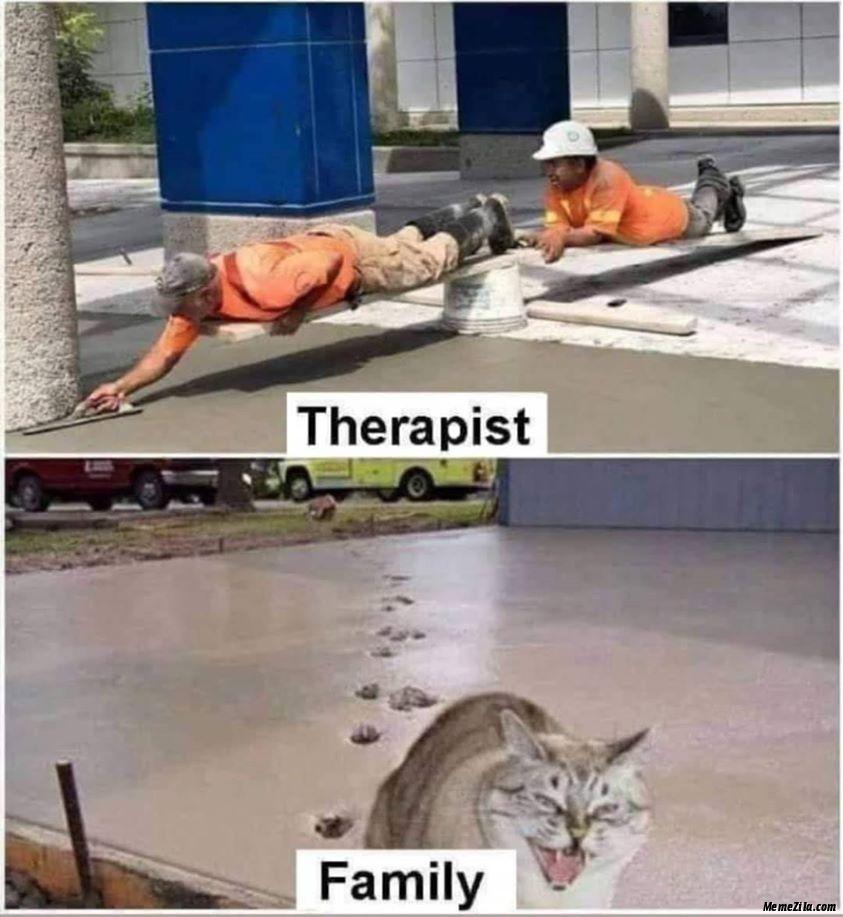 Therapist vs family meme