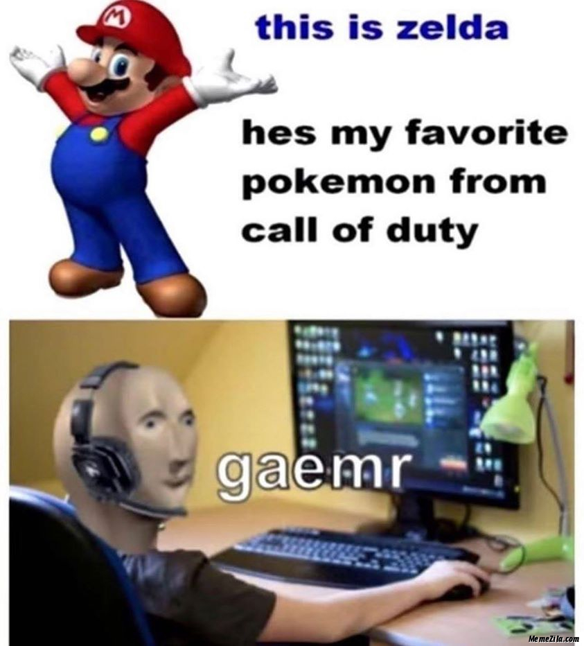 This Is Zelda He is my favourite pokemon from Call of Duty Gamer meme